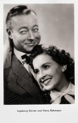 Ingeborg Körner and Heinz Rühmann in Keine Angst vor grossen Tieren (1953)