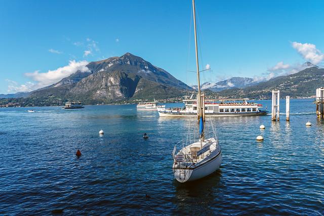 Ships on Lake Como