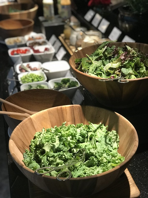 Salads featuring two kinds of kale