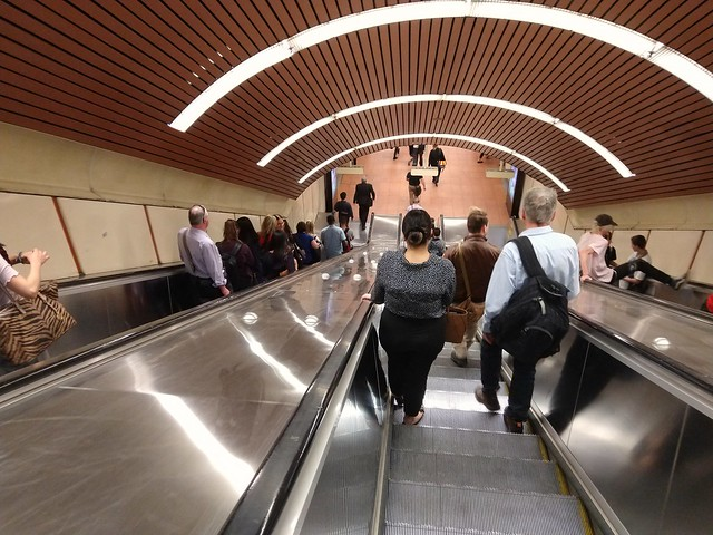 Escalators at Flagstaff station