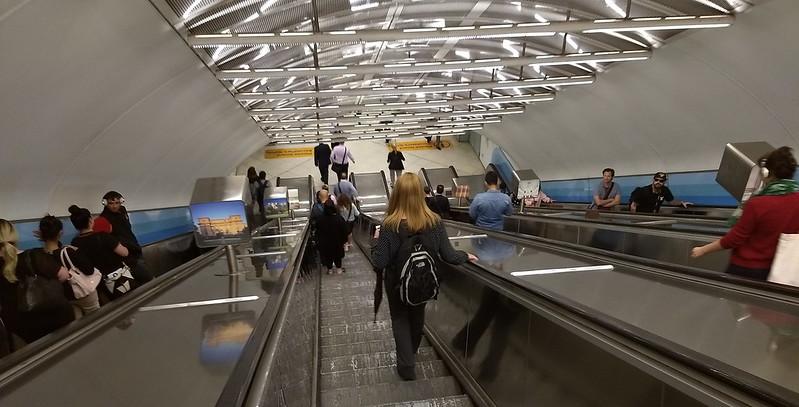 Escalators at Parliament station