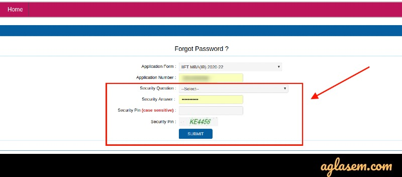 Retrieving IIFT 2021 Login Password