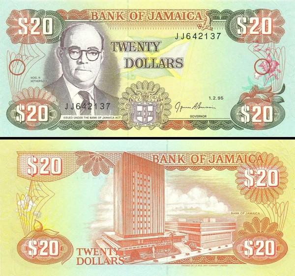 20 Dolárov Jamajka 1995, P72e