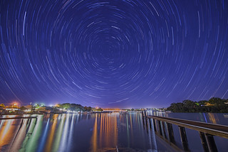 Star trails in the city