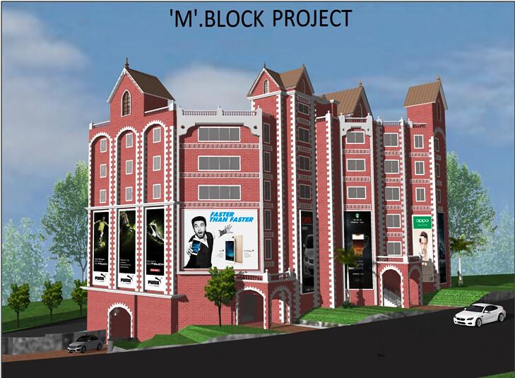 M Block Elevation