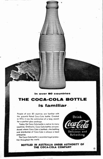 1954 advertisement for the Coca-Cola Bottle