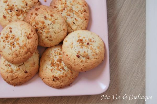 Cookies vanille pralin sans gluten sans lactose