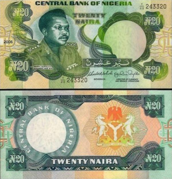 NIGERIA 20 NAIRA 2006 P 26k