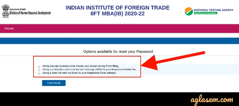 Forgot IIFT 2021 Login Password