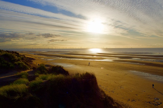 Formby beach, Merseyside, uk