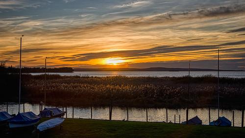 sunset sonnenuntergang steinhudermeer lake see nikon meer wasser herbst hdr segelboot 100er