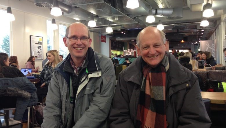A photo of Jan Hofman and Kees van Leeuwen (Chief Science Officer and principal scientist at KWR) in Bath.