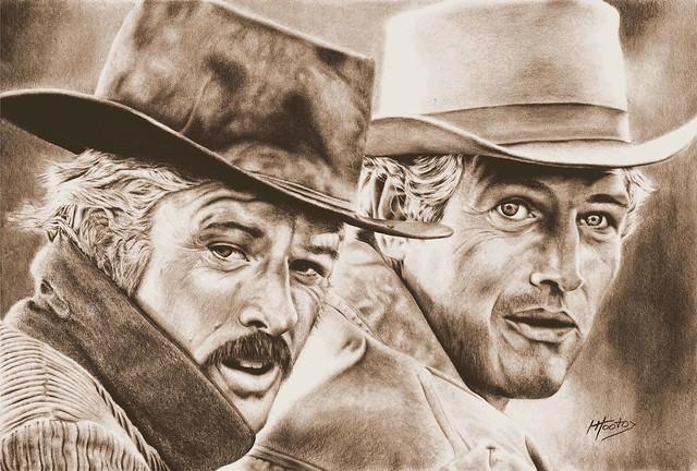 Butch and Sundance Sepia Small