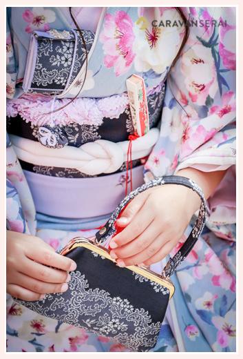 七五三 7歳の女の子 着物 バッグ 帯