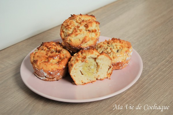muffins coco banane sans gluten sans lactose