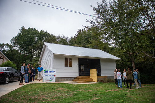 The completed Habitat for Humanity house.