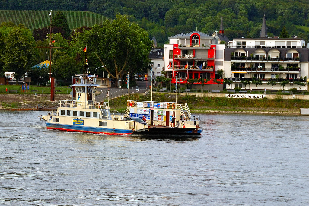 River Rhine ferry from Bonn-Bad Godesberg to Niederdollendorf