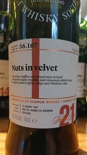 SMWS 36.167 - Nuts in velvet