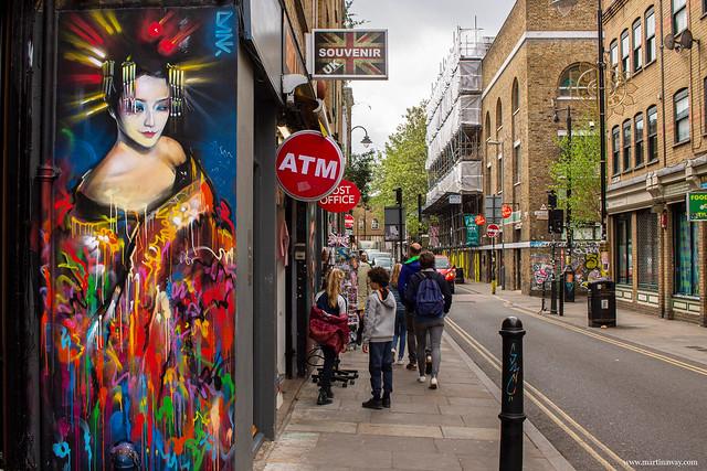 Street art by Dank, Brick Lane