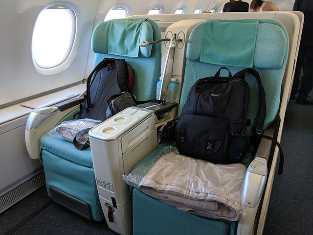 our business class seats for the next 14 hours
