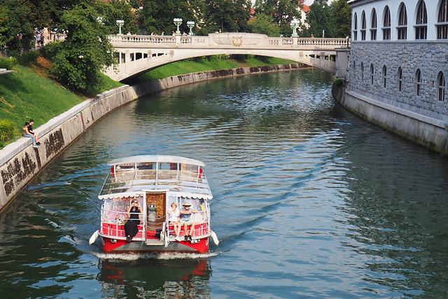 Boat trip, Ljubljana, Slovenia