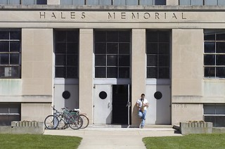 Oberlin's Hales Annex is adjacent to Hales Gymnasium and houses the College Lanes, the Pool Room, and the Cat in the Cream Coffeehouse.