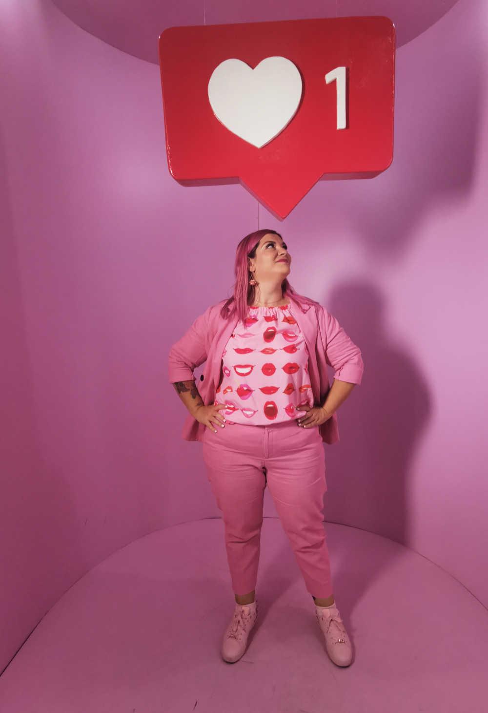 Curvycolorchallenge, come indossare il rosa (2)