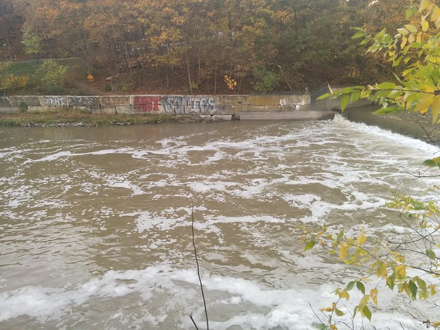 Humber River below the Dundas Street Bridge #toronto #humberriver #fall #autumn #dundasstreetbridge