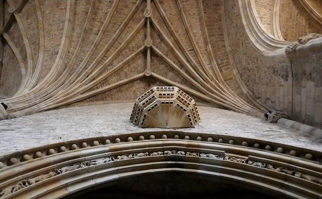 Voûtes et nervures gothiques, monastère Santa María de Zenarruza (XIVe_XVe), Ziortza-Bolibar, comarque de Lea-Artibai, Biscaye, Pays basque, Espagne.