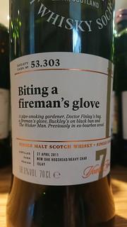 SMWS 53.303 - Biting a fireman's glove