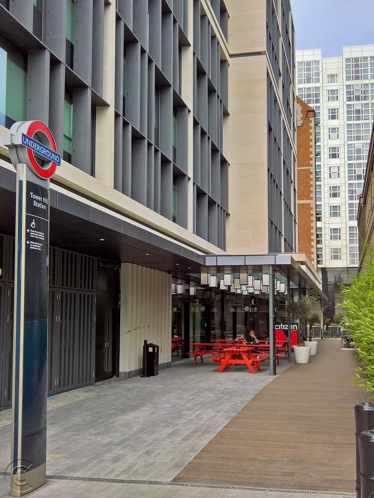 citizenM hotel Trinity Place rear terrace