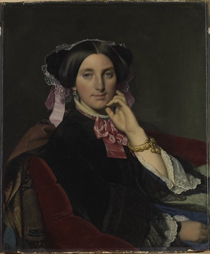 Portrait de Madame Caroline Gonse, 1852. From Come and discover the only Ingres Museum in the world