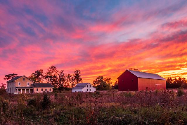 Riverview Farmstead Sunset