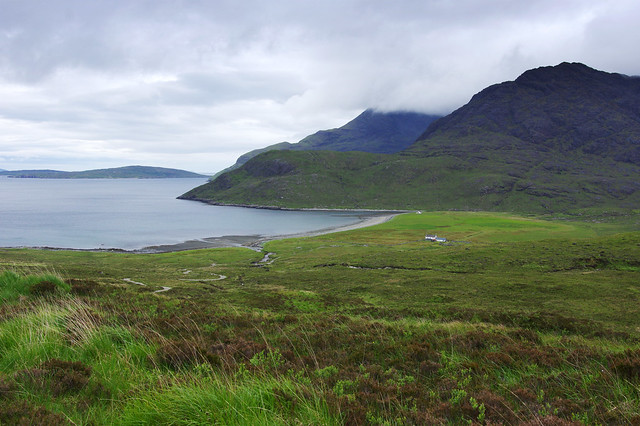 Day 5: View of Camasunary from the slopes of Blà Bheinn