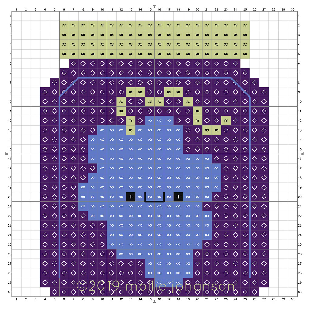 2019 October Grape Jam Cross Stitch Pattern