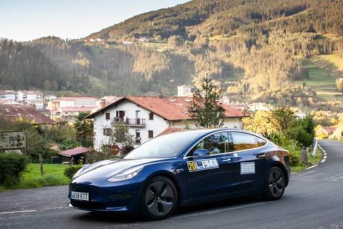 I Eco Rallye Bilbao Petronor por Aulestia con nuestro Tesla Model 3