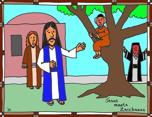 Jesus And Zacchaeus Coloring Page Stushie Art