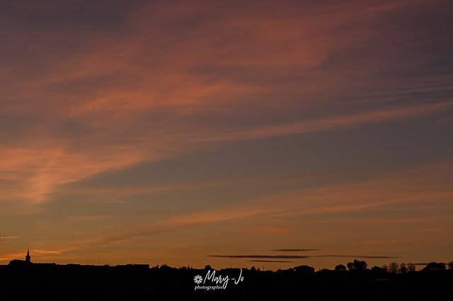 Ciel spectaculaire de fin de jour 1 ...   Spectacular sky at the end of day 1 ...
