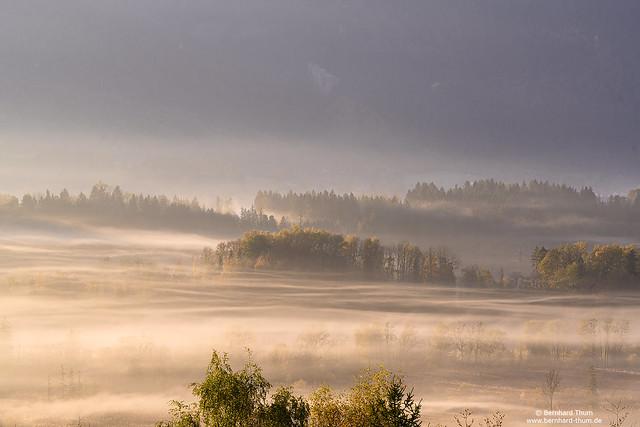 Morning mist at Loisachtal N°1