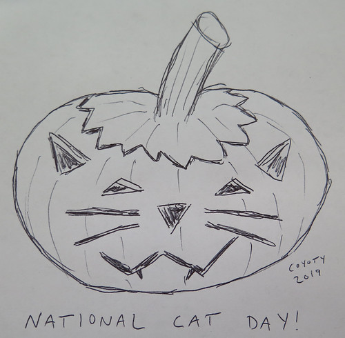 Inktober 29, 2019: National Cat Day