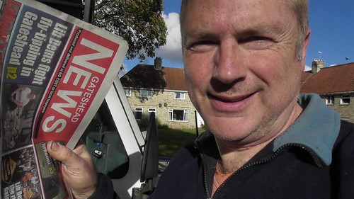Delivering tabloid in Watergate Estate Oct 19