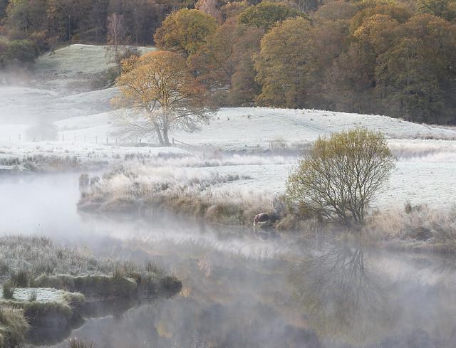 River Brathay near Skelwith Bridge, Great Langdale, Lake District National Park, Cumbria, UK