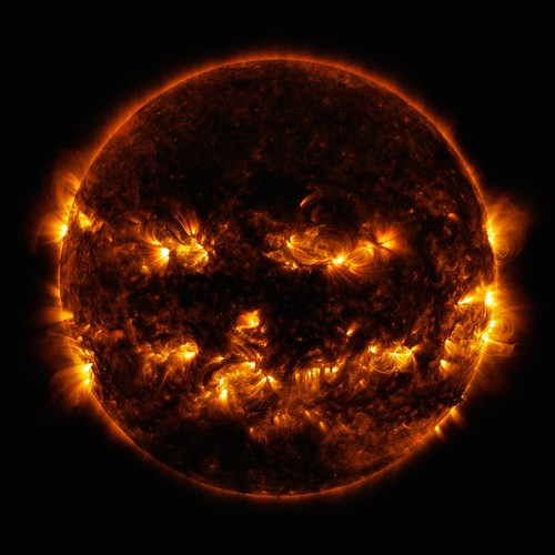Halloween sun, photo credit NASA Solar Dynamics Observatory