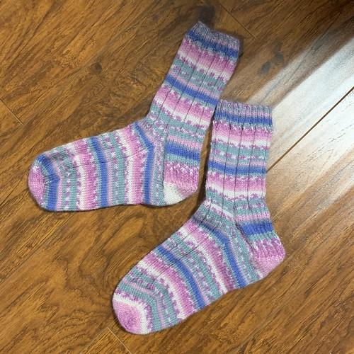 Connie's Vanilla Latte socks