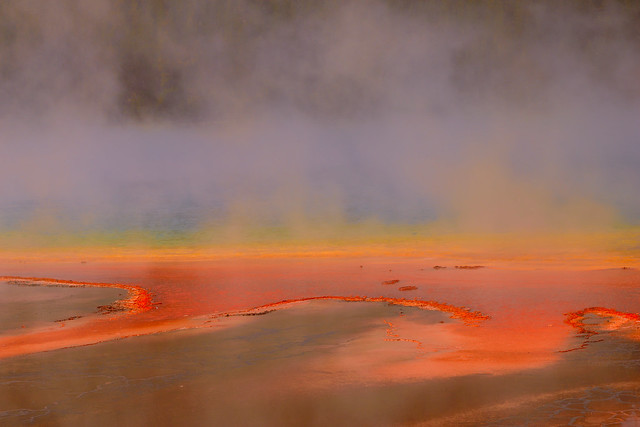 Steaming hotspring