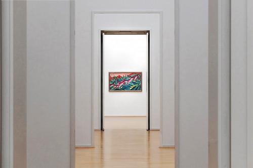 hamburg kunsthalle franzmarc monkeyfrieze view painting bokeh