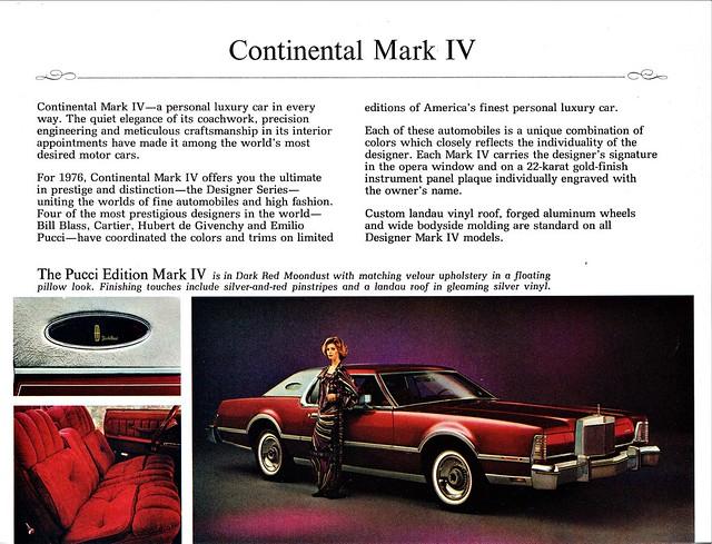 1976 Continental Mark IV Pucci Edition
