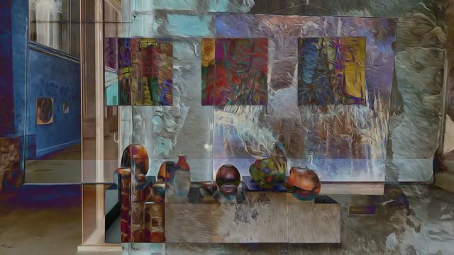 Kunstausstellung in der Kulturkirche St Jakobi 23 White Man among Art Objects