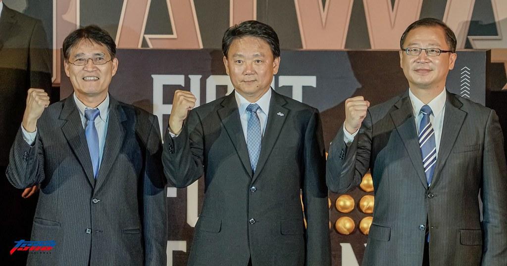 高俊雄(圖左)、洪一中(圖中)、吳志揚。(資料照,攝影賴柏安/現場拍攝)
