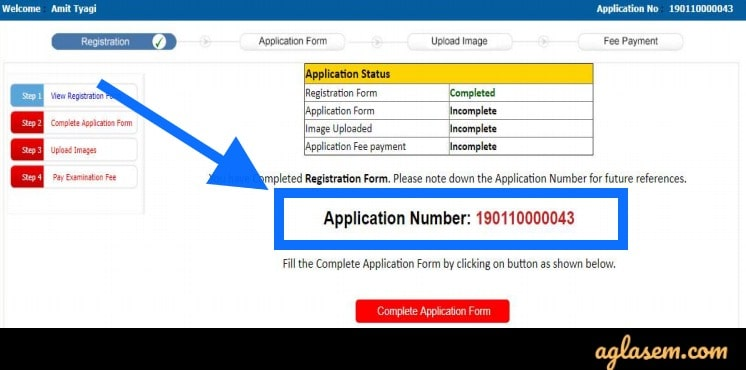 CMAT 2020 Application Number